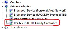 Realtek USB GBE Ethernet Controller Treiber