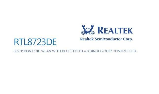 realtek rtl8723de 802.11b / g / n pcie adapter driver